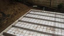Geïsoleerde betonvloerconstructie
