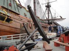 Bataviawerf Lelystad steiger gerepareerd