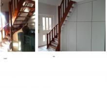 kast gemaakt onder trap